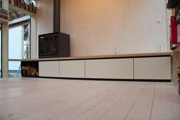 Open Opbergkast Badkamer : Opbergkast onder open haard pad meubelatelier keukens badkamer